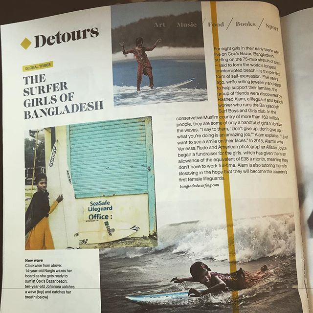 En route to a land lock city in the middle of Europe it's comforting to read an article on @british_airways magazine about the @bangladeshsurfgirlsandboys ... inspiring project. . . . #socialinclusion #surf #surfing #travel #changemakers #makechangehappen