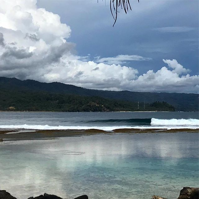 Land, sea and sky doing their thing. Floating in the Indian Ocean for a couple weeks warming our bones before another season of roaming in Cornwall. . . . . . #comeroamwithus #bluemind #space #ocean #surf #waves #peace #quiet #relax #retreat #adventure #journey #explore #indonesia
