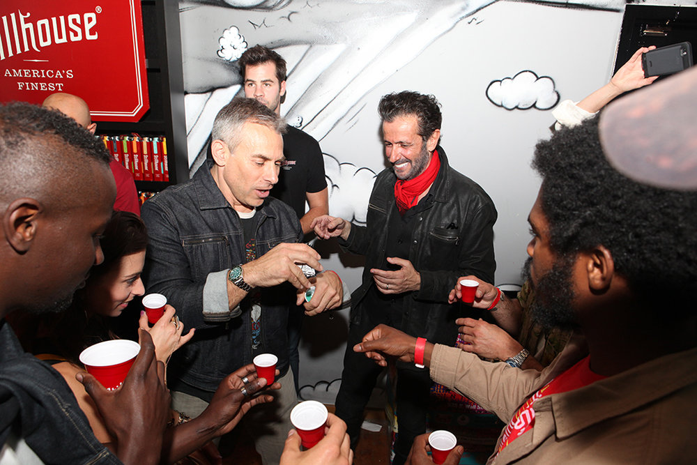 Jeff Hamilton and some friends enjoying some Stillhouse Moonshine Whiskey