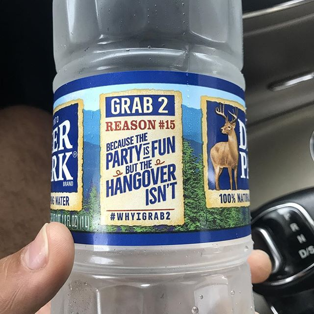 Best marketing I've seen on bottled water!😂😂😂