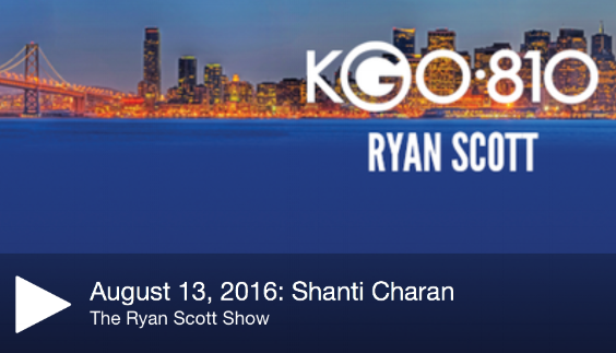 Shanti Charan stops by The Bay Area's #1 news & information station, KGO 810, to talk about comedy and food with  Arthur Ballesteros and Good Morning America's, Chef Ryan Scott!