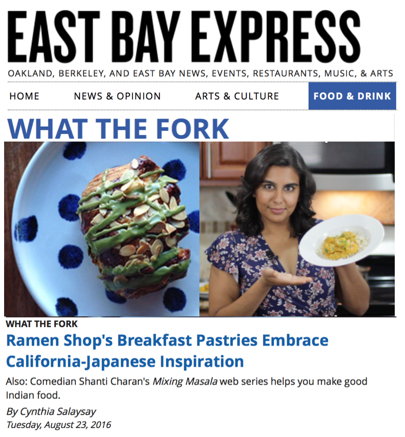 The #1 alternative weekly newspaper serving the East Bay dropped us our first piece in the press! See the smaller heading... THAT'S US! Fork YEA!