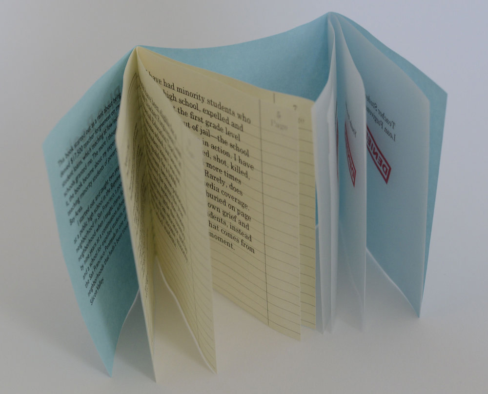 Honorable mention, Blue Book, in Bright Hill's 25th Anniversary Juried Book Arts Exhibition