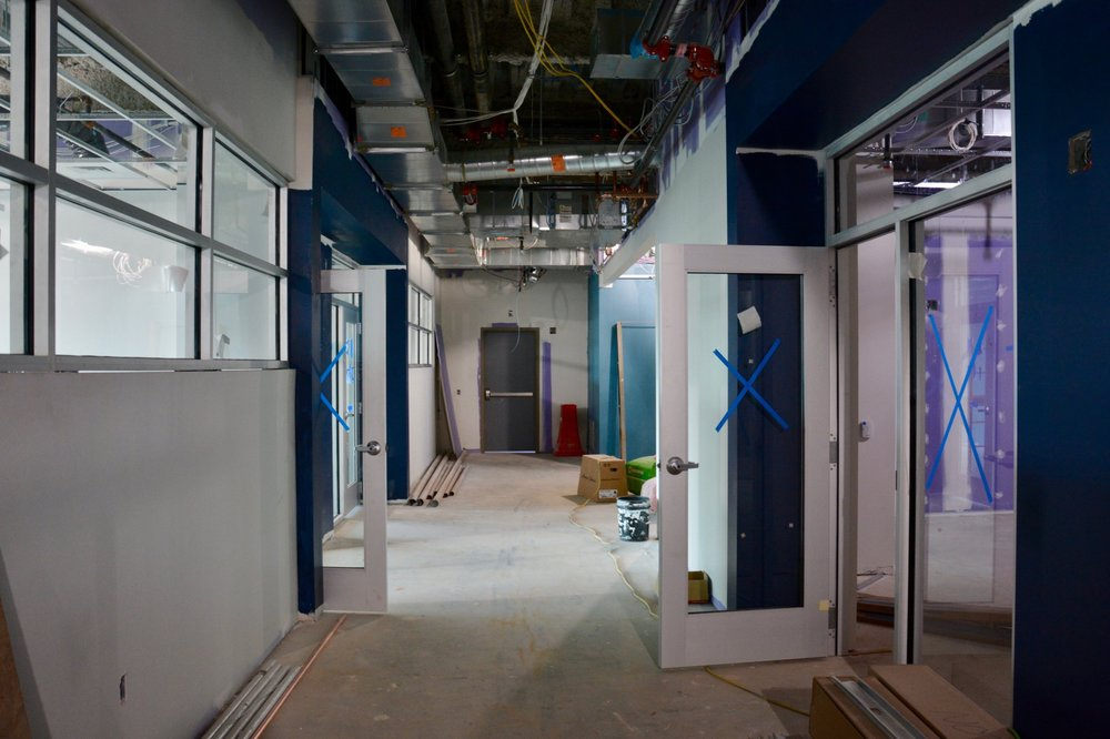 New addition hallway of learning labs