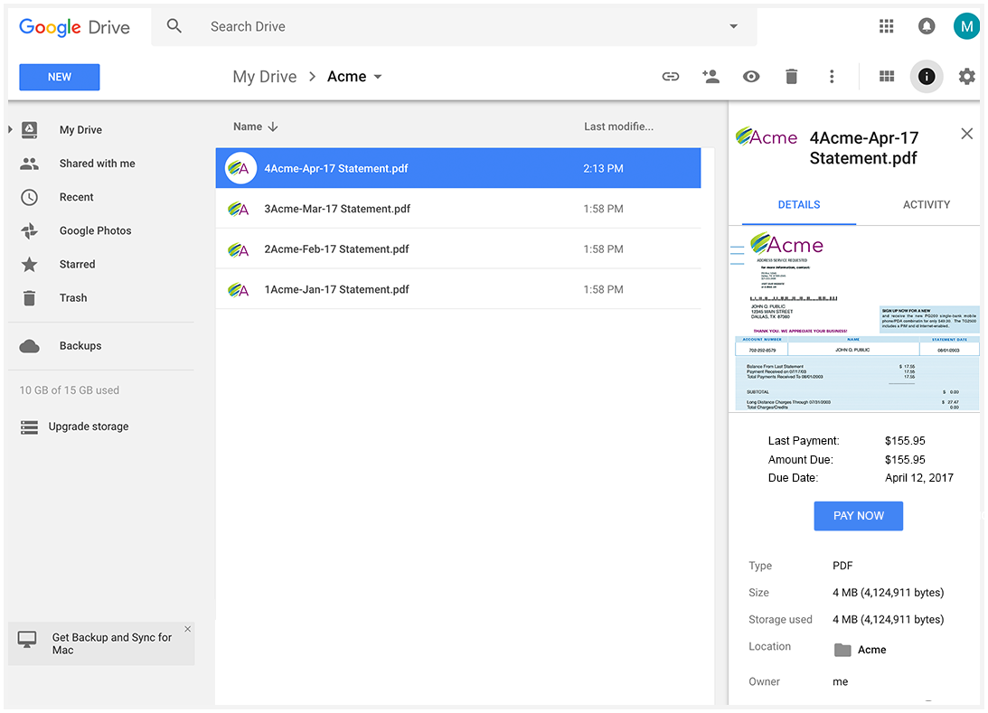 Inlet integrates with Google Drive to bring digital document delivery of ebills and statements to users