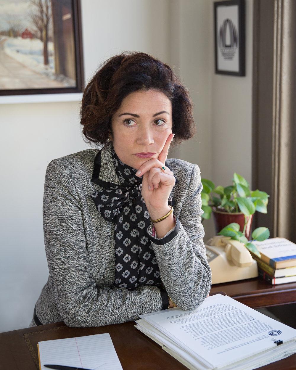 Dr. Jennifer Earl as Dr. Kathryn F. Clarenbach