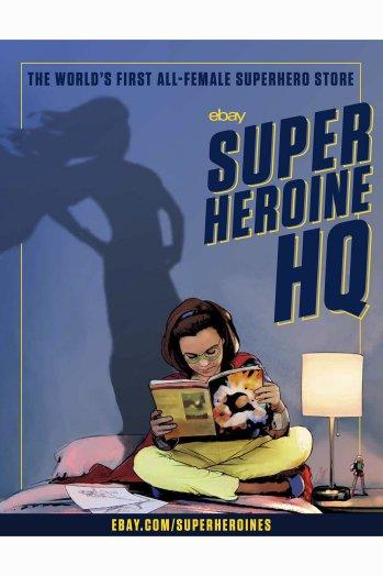 This eBay Superheroine HQ poster is designed by comic illustrator Cat Staggs  eBay