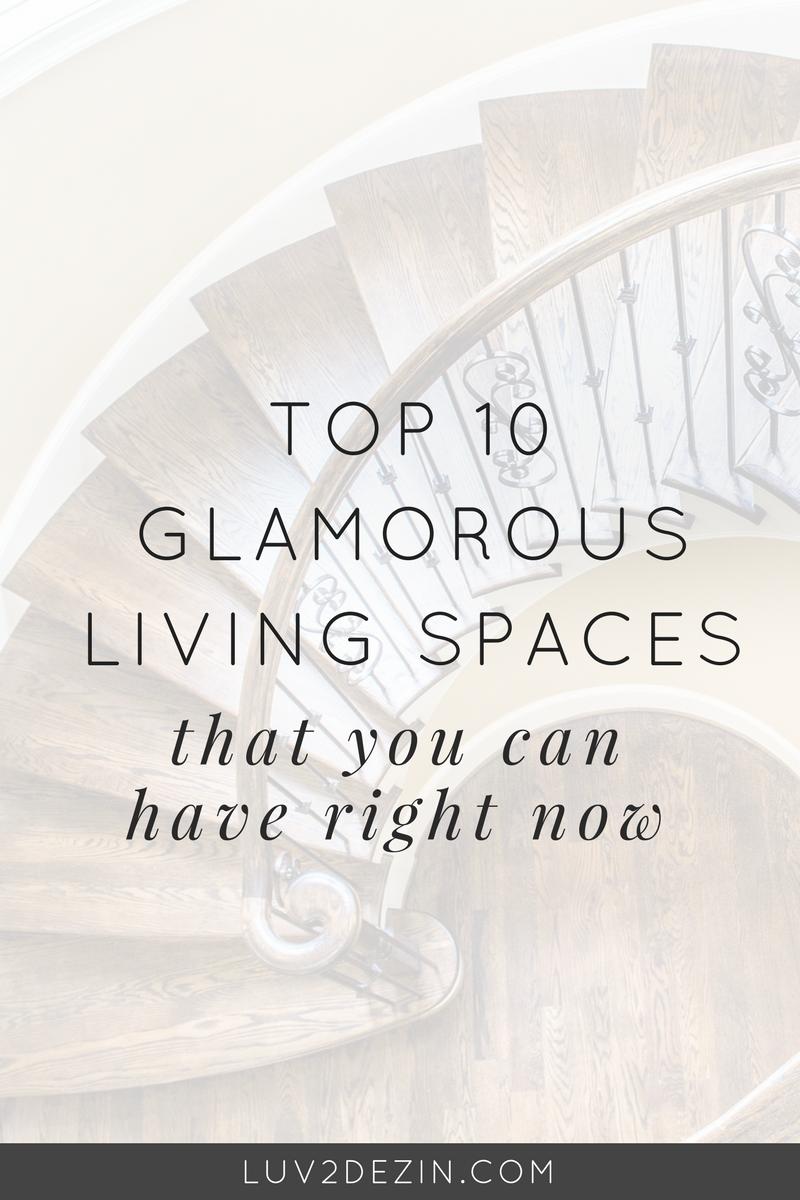 glamorous living room interior design