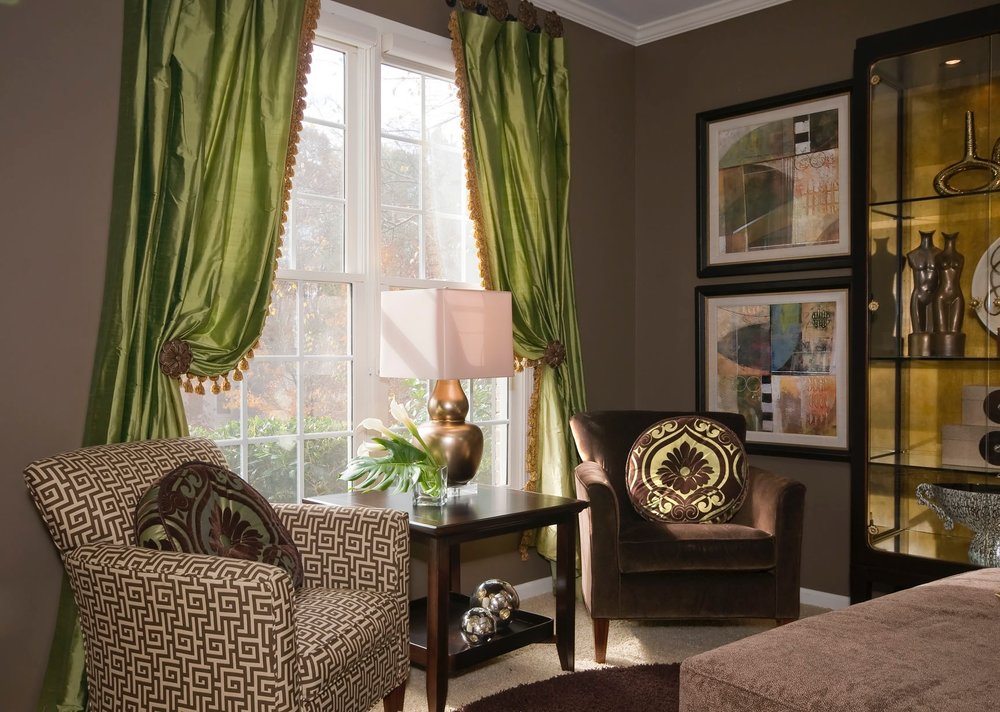 luxury-window-coverings-interior-design-green-brown