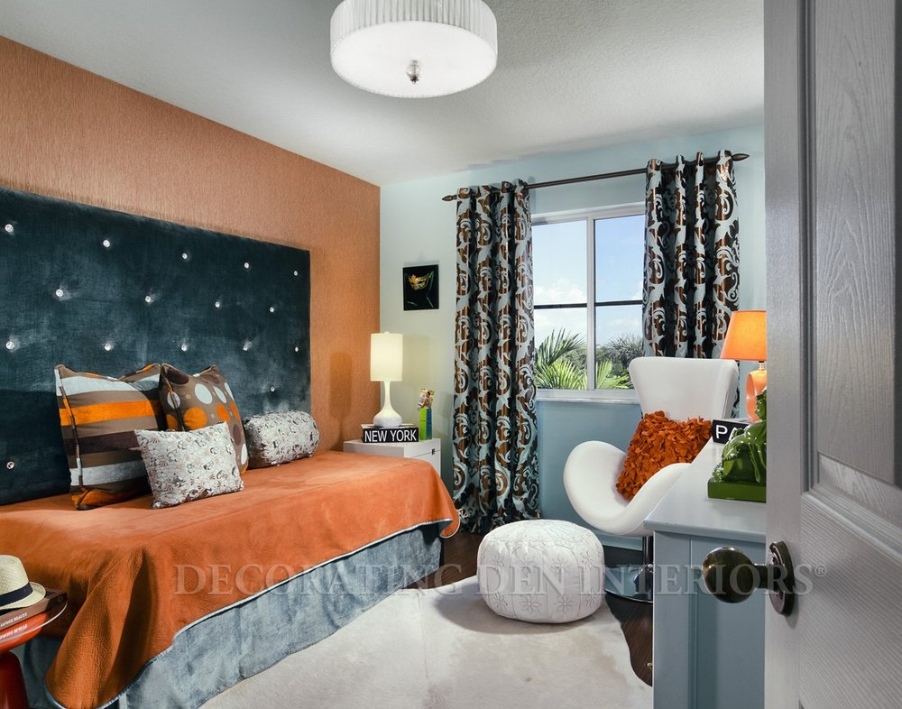tangerine teen bedroom interior design project in temecula ca