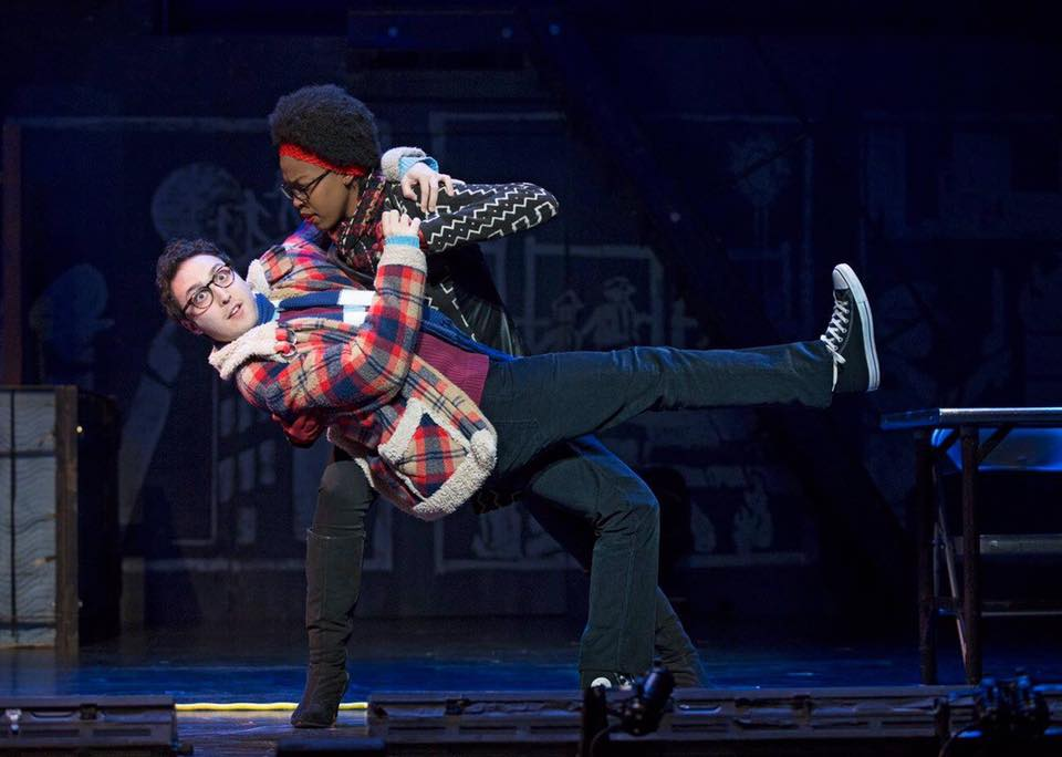 Performing as Mark Cohen with Jasmine Easler as Joanne in the RENT 20th Anniversary Tour