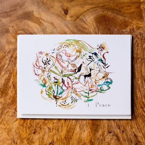 Peace greeting card jheloise peace greeting card m4hsunfo