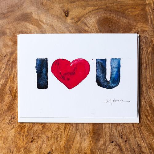 I love u greeting card jheloise i love u greeting card m4hsunfo