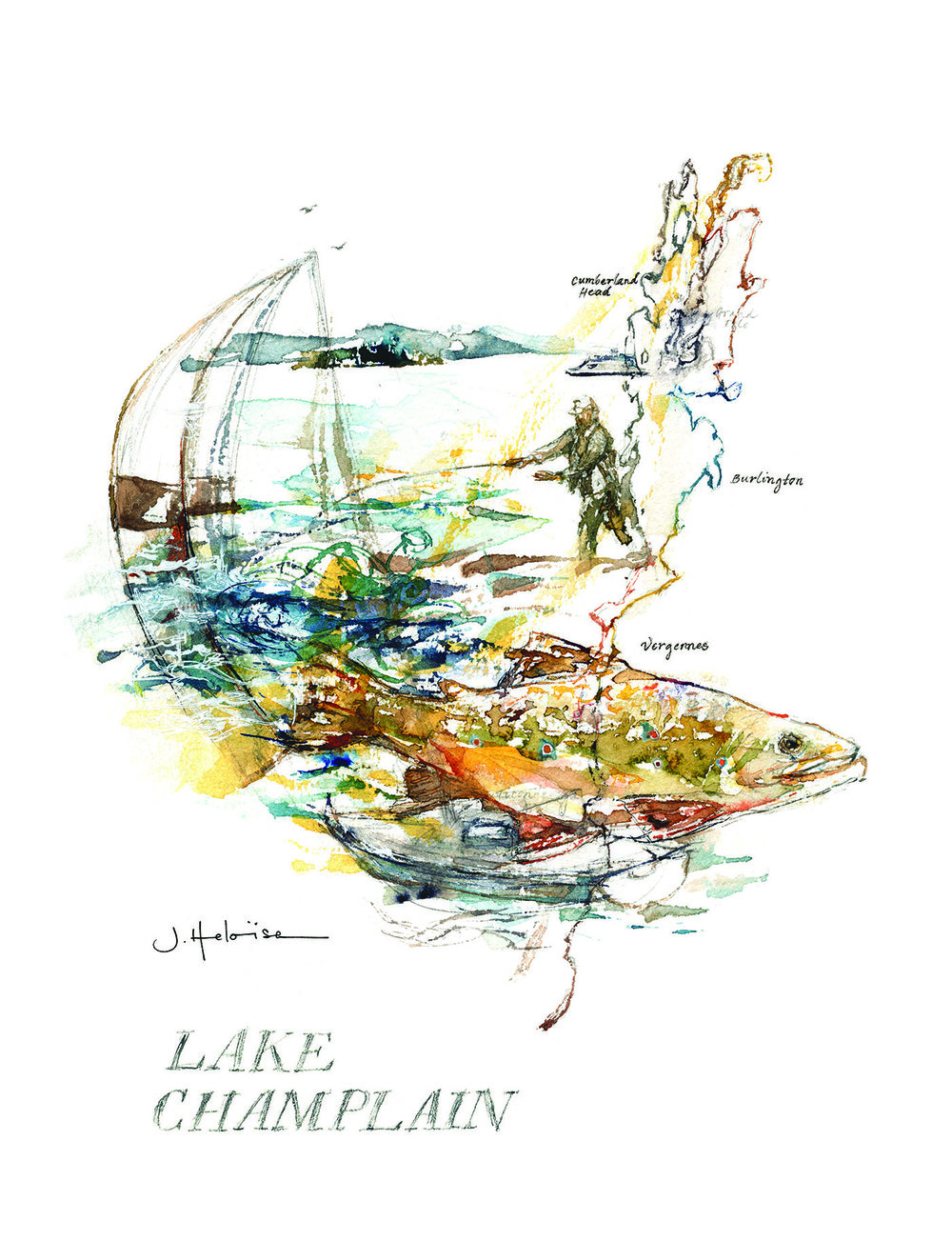 Art Commission for Lake Champlain International by J.Heloise, 2016