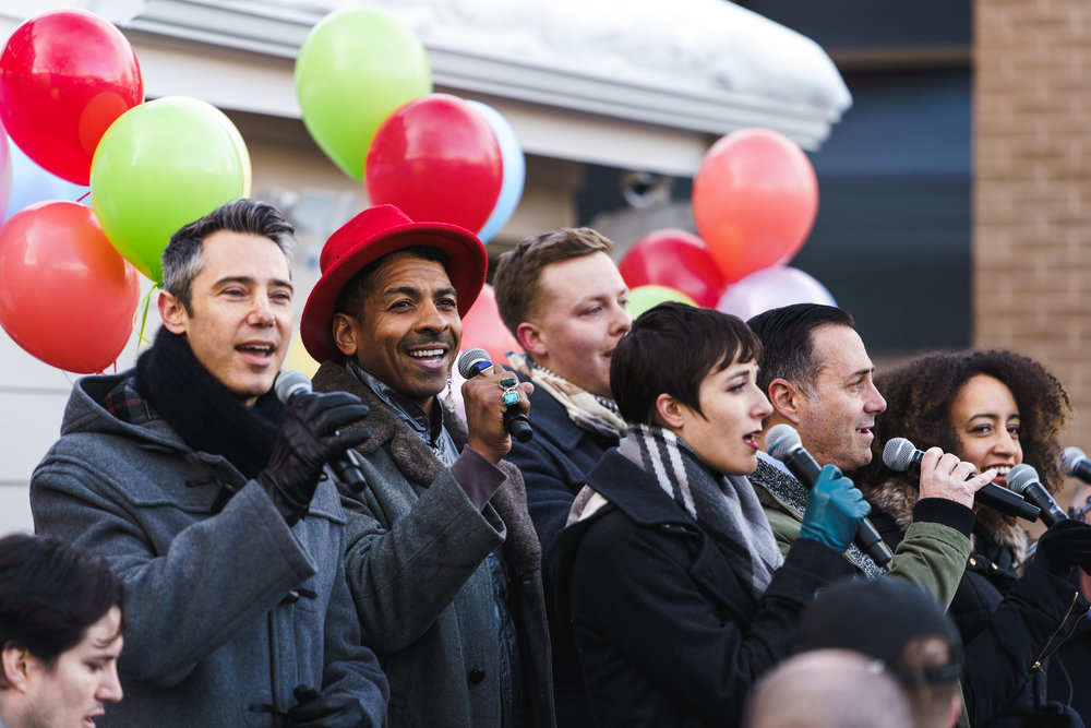 The San Francisco Gay Men's Choir performed during the Grand Opening of the John Williams Encircle Home in Salt Lake City on Valentine's Day 2019.  (Photo by Dylan Wilkinson)