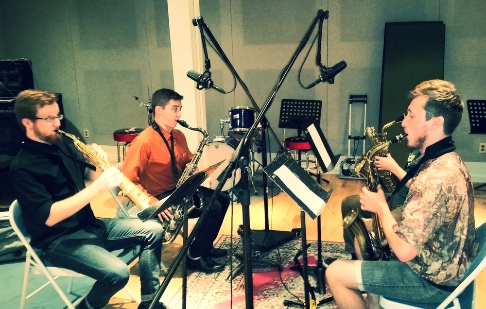 Tracking a Sax Quartet