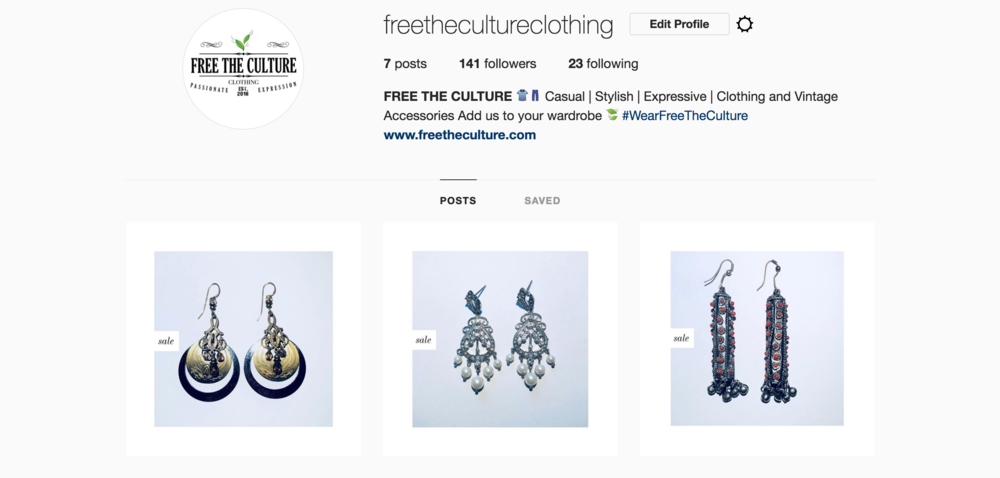 Free The Culture - Vintage Jewelry Collection. Now Available on our site! Black Friday Sales until end of November!