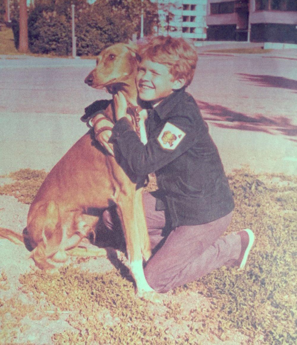 Pekka ja Andy Myllypurossa 1975