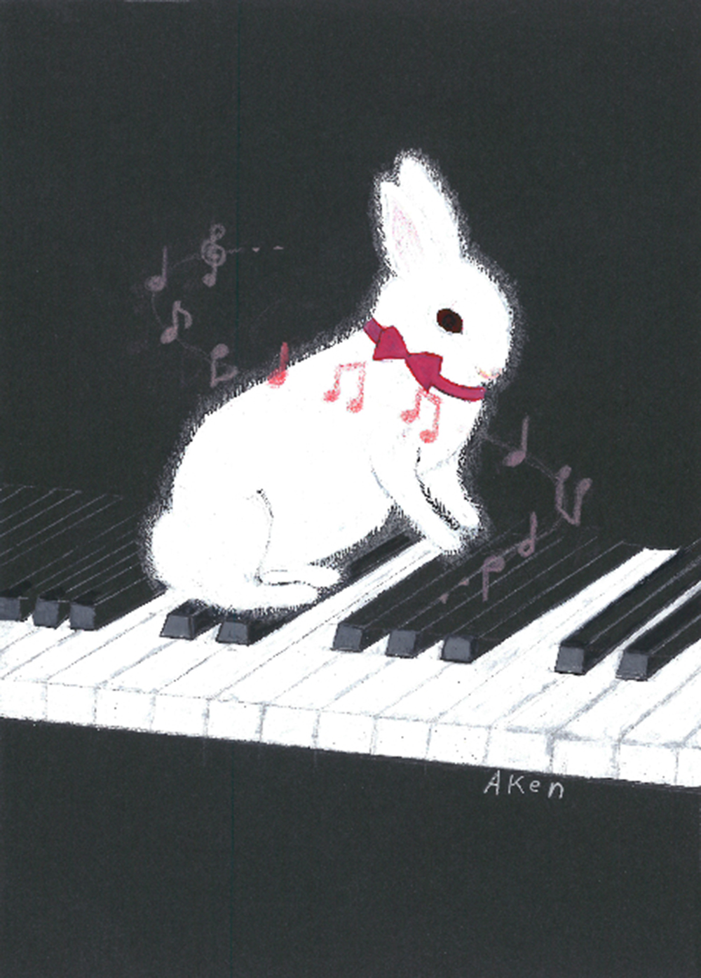 Rabbit on the Piano