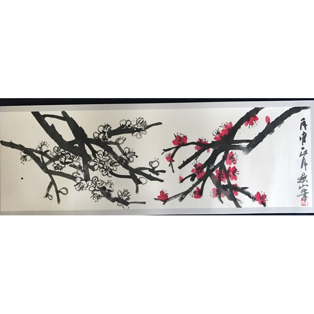 Red and White Plum Blossoms