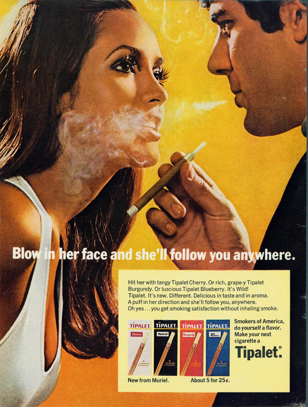 Fig. 2 - Tipalet cigarette ad (1969)