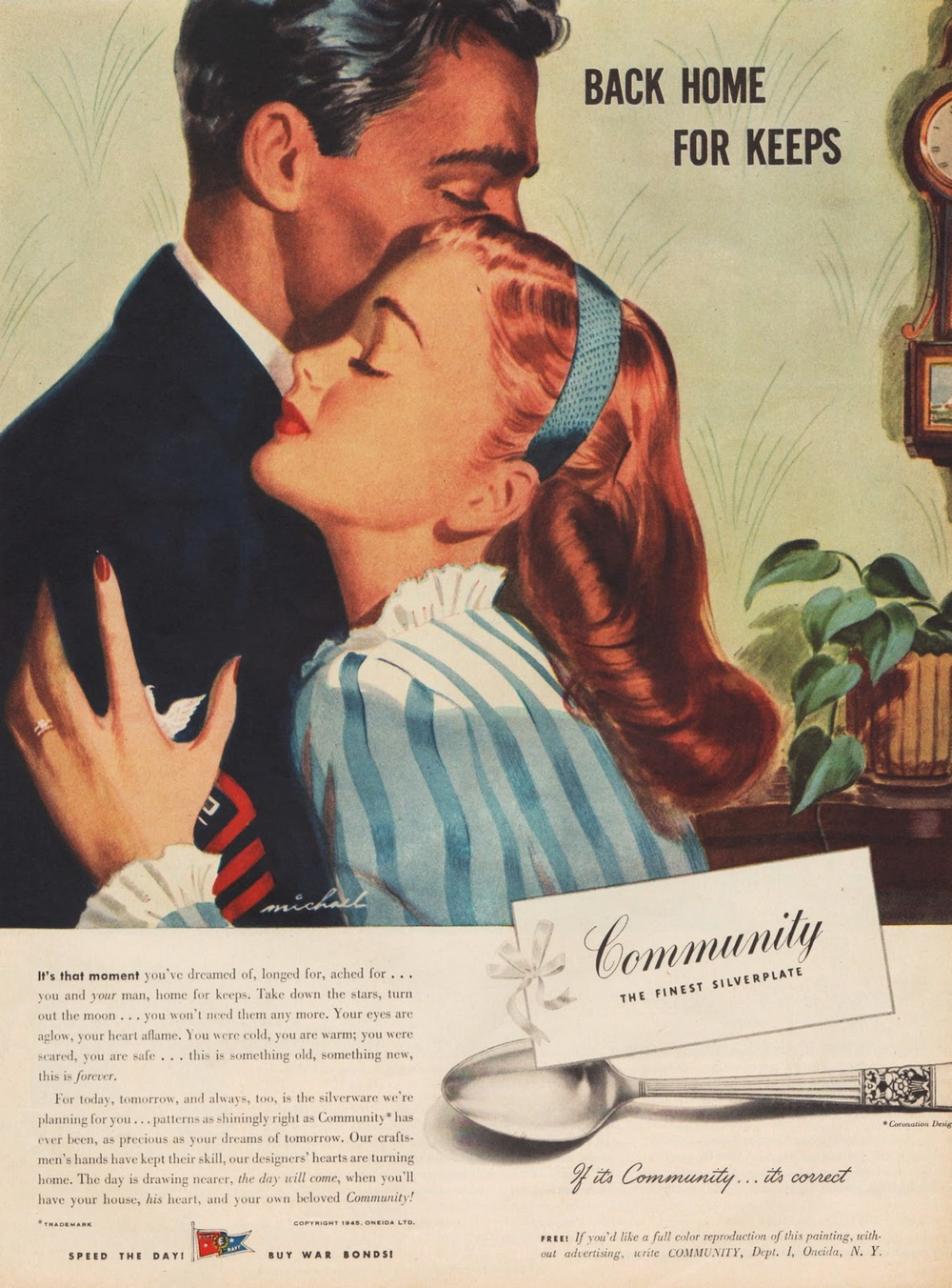 "Fig. 4 - ""Back Home For Keeps"" - Jon Whitcomb (1940s)"