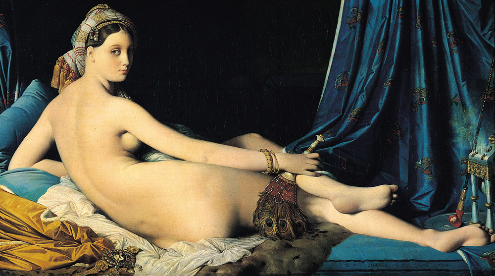 Grande Odalisque painting by Jean Auguste Dominique Ingres (1814)