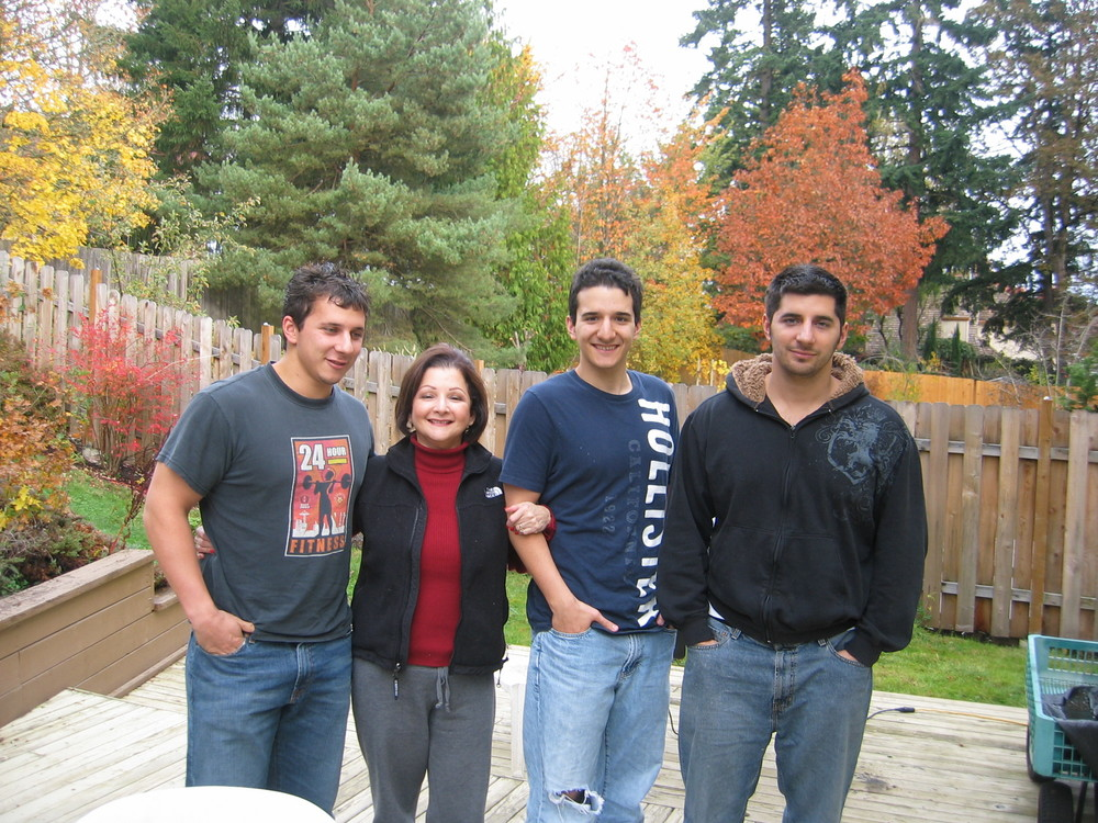 Sean, Maricela. Steven & Robert McDonell at their home in Oregon
