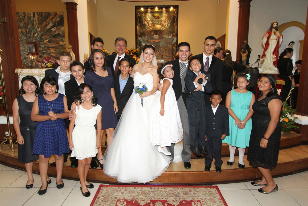 Robert, Nolvia and a few of their Brothers and Sisters at their Wedding
