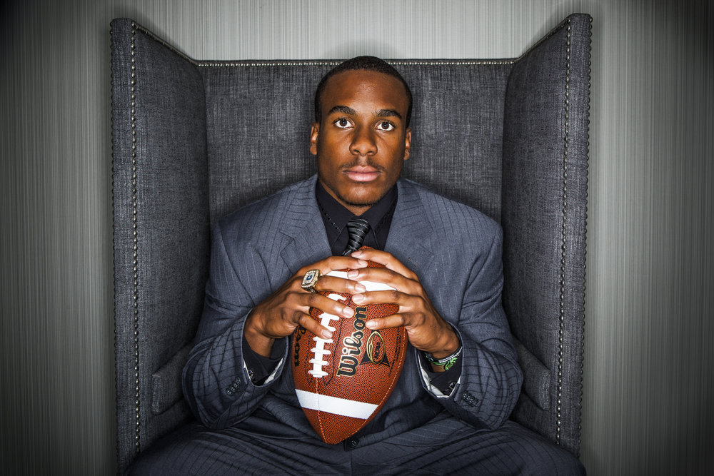 30 July 2009: Jahvid Best Running back for California poses for a portrait during the Pac-10 Football Media Day held at the Sheraton Gateway LAX Hotel in Los Angeles, CA.