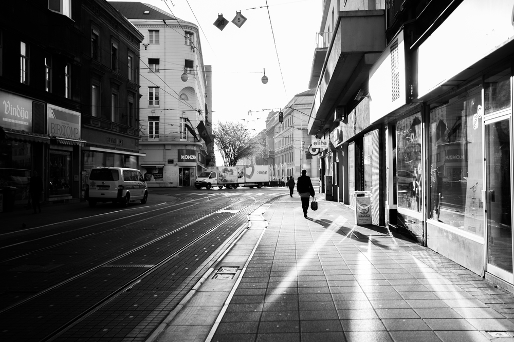 Zagreb - Morning light on a walk through the city.