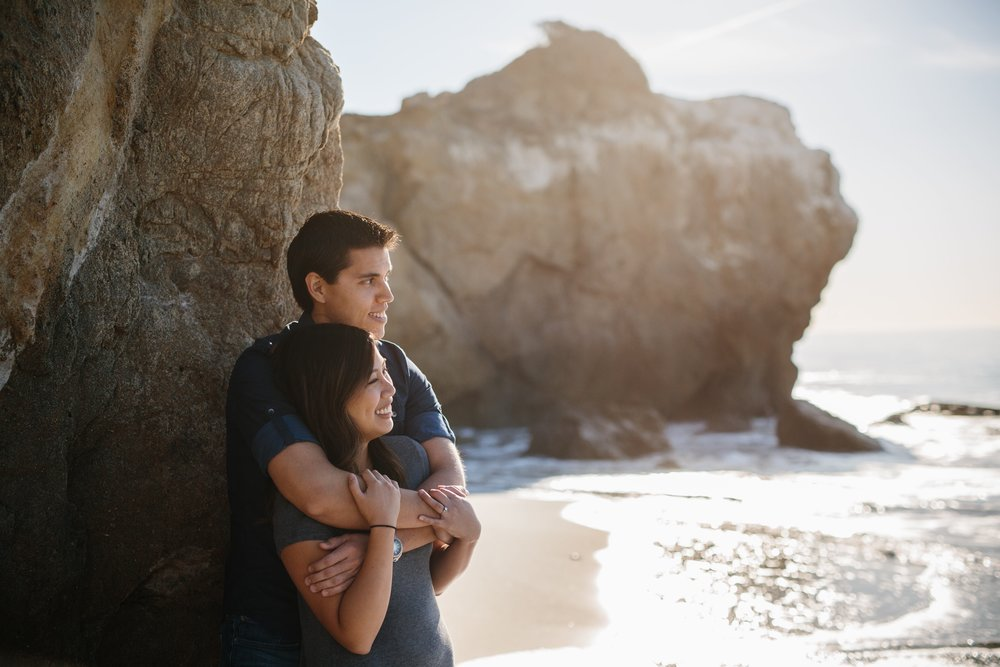 El Matador State Beach Engagement Photographer © Abigail R Collins Photography