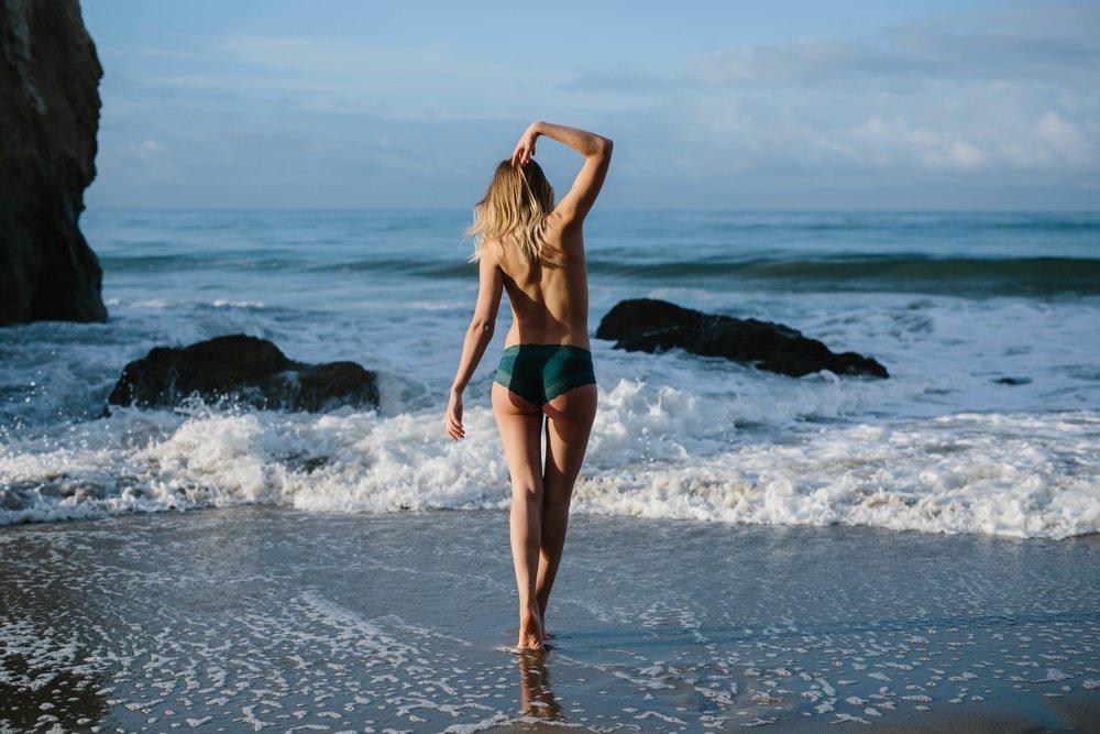 El Matador Beach Los Angeles Boudoir © Abigail R Collins Photography