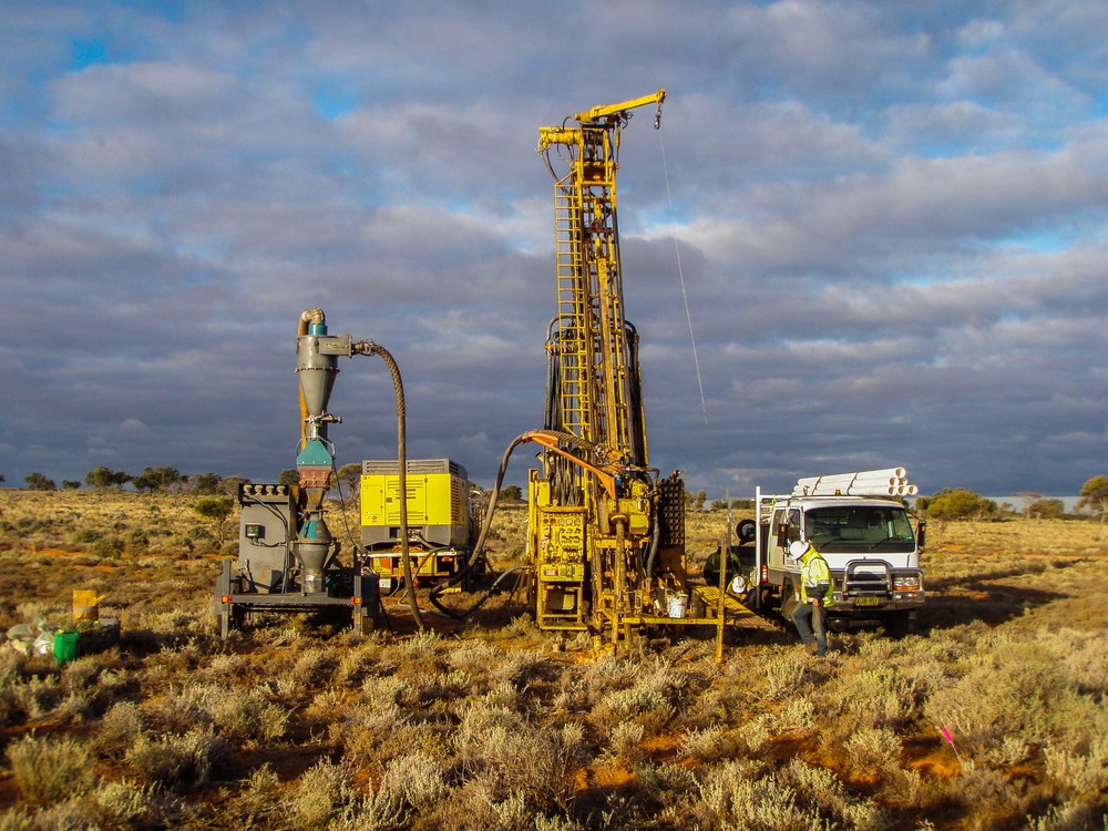 Exploration drilling at the Thackaringa Cobalt deposits.