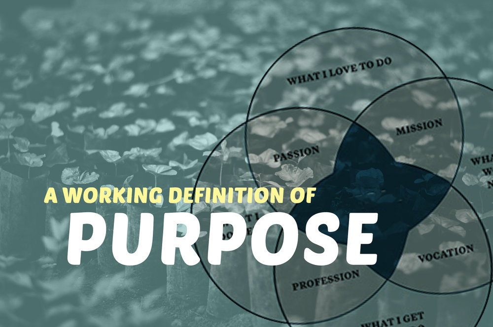 A WORKING DEFINITION OF PURPOSE