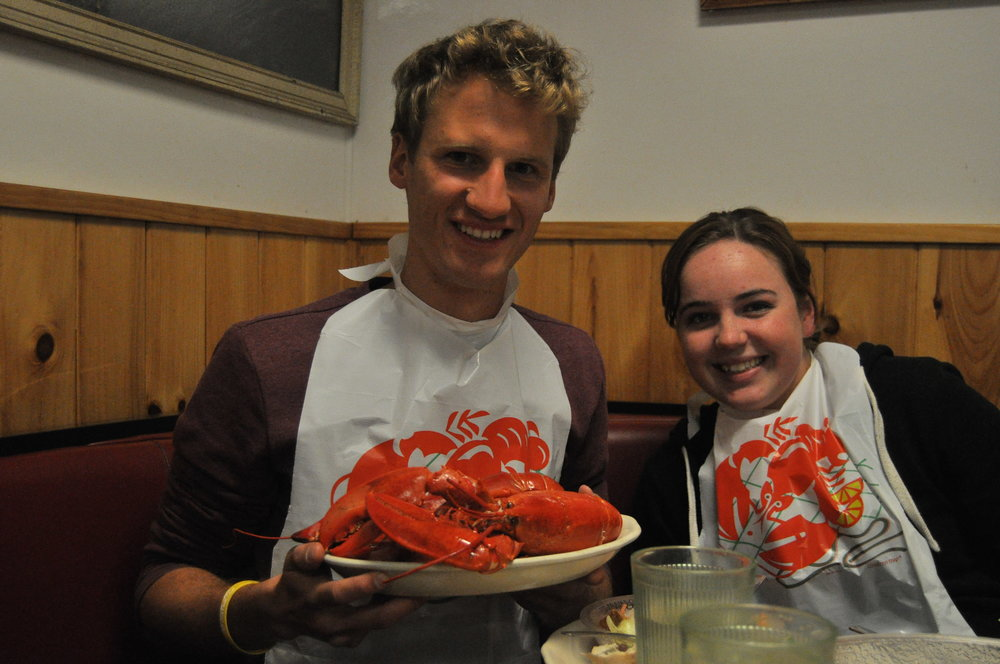 Tim & Holly & a Lobster.jpg