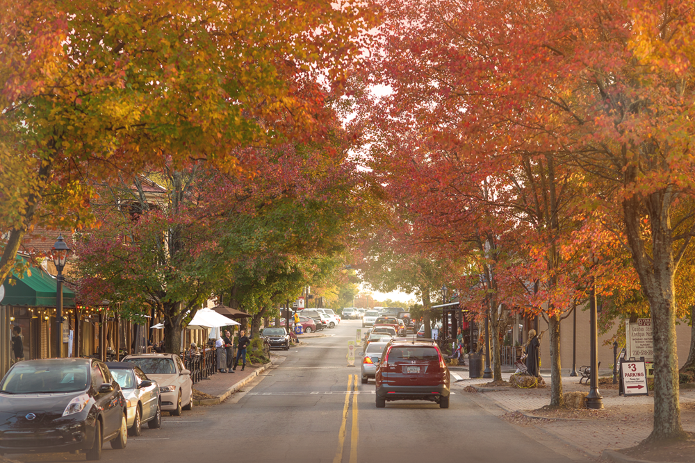 Fall color on Canton Street, Roswell, GA