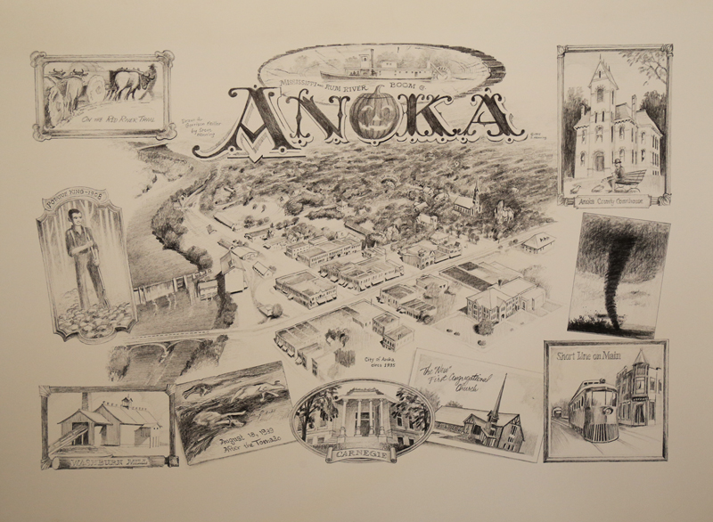 Anoka Open edition reproduction of an original pencil drawing $45