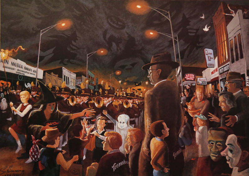 The Night Parade - Halloween 1959 Signed and numbered $125