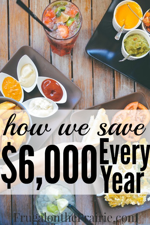 Meal planning is one of the best ways to save money on food! How much can you save by eliminating restaurants and eating out?