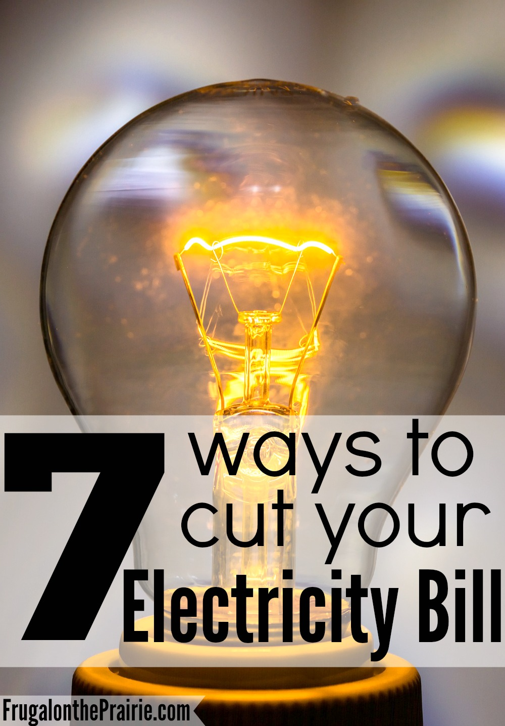 Summer is almost here. Are you ready for your electricity bill to go up? Here are 7 ways to cut your electricity bill.