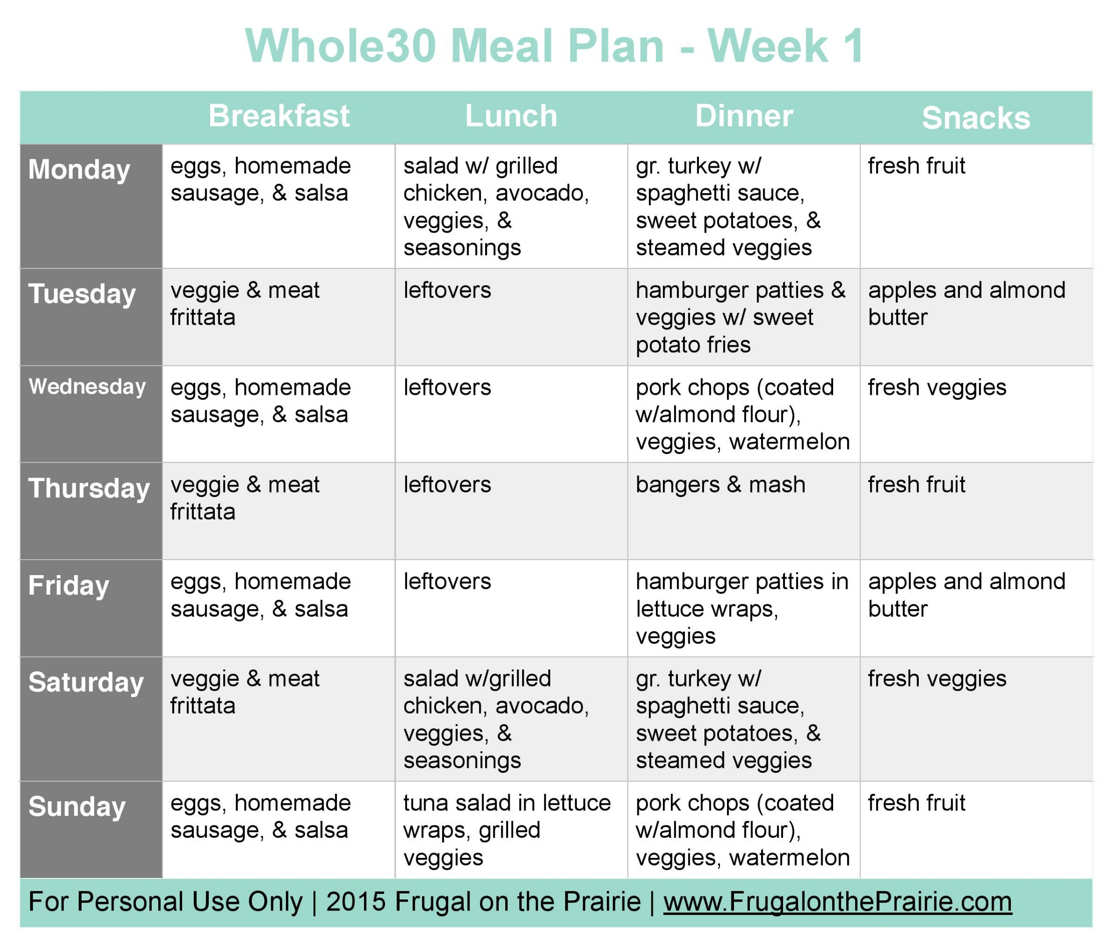 The Busy Person's Whole30 Meal Plan - Week 1 — Allison ...