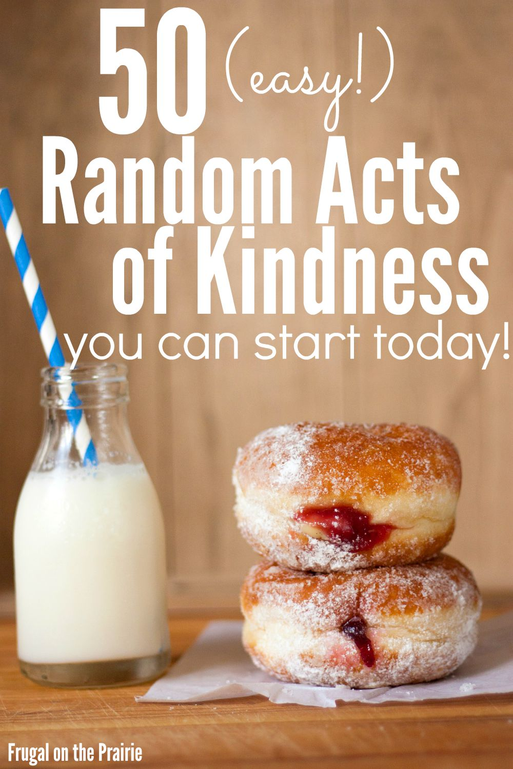Want to be more giving and selfless of your time and energy? Here is a FREE checklist for 50 (easy!) random acts of kindness you can start today!