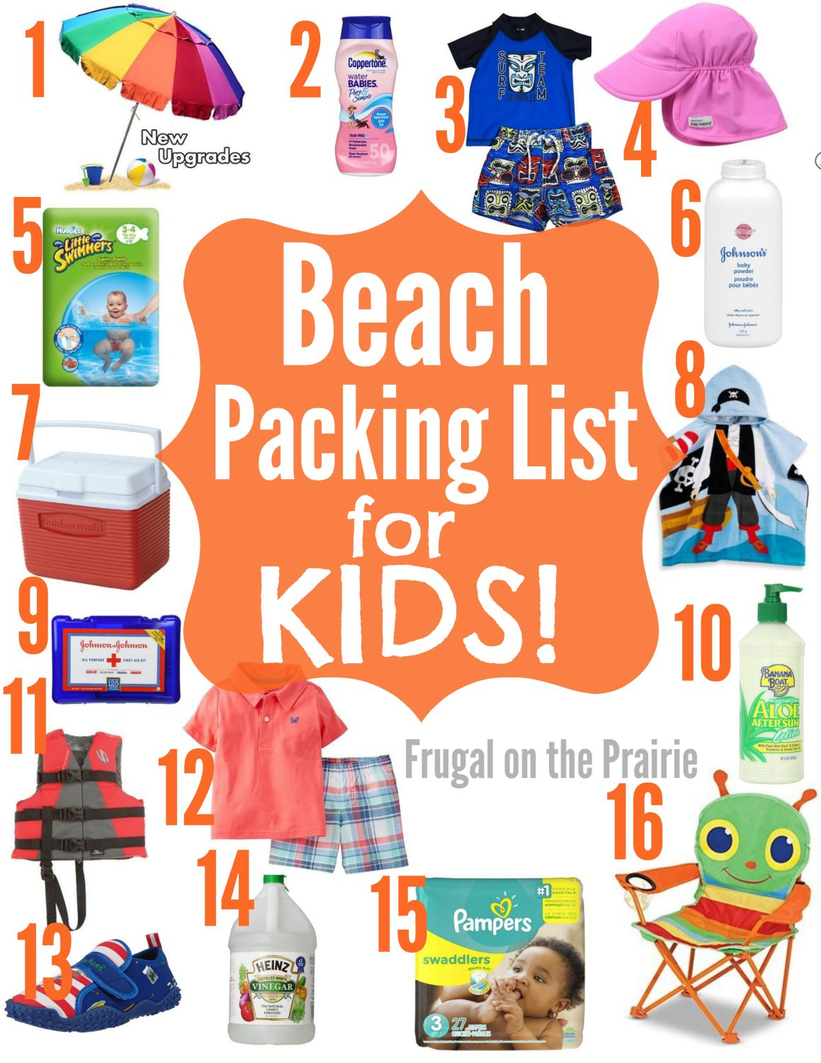 Beach Packing List For Kids