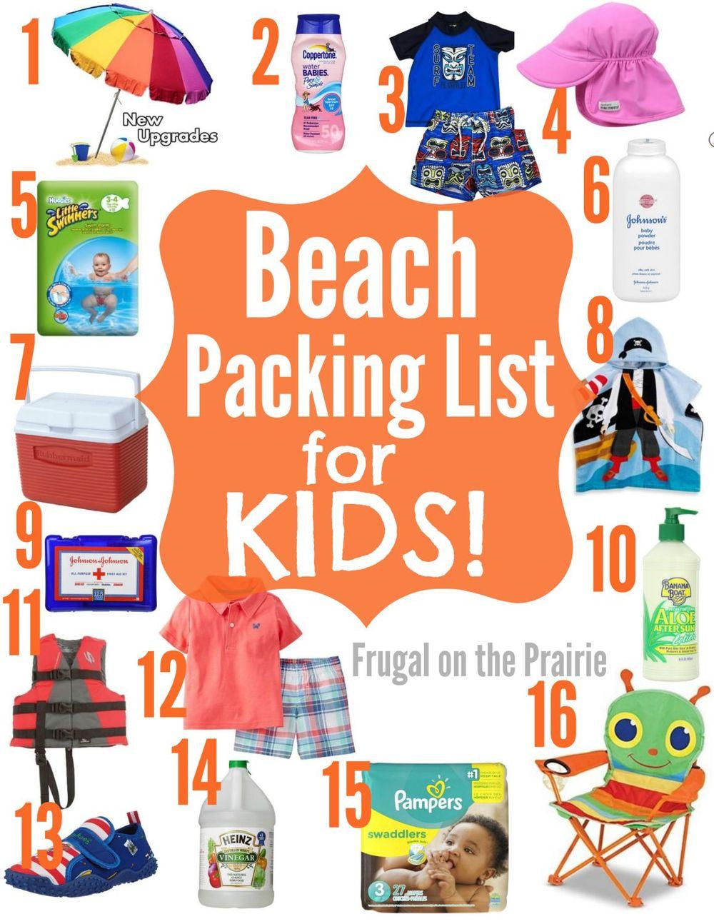 Beach Packing List For Kids Allison Lindstrom