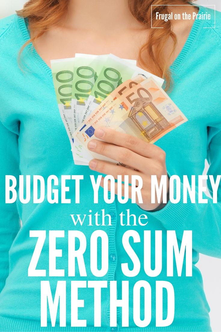 Budget Your Money with the Zero-Sum Method — Allison
