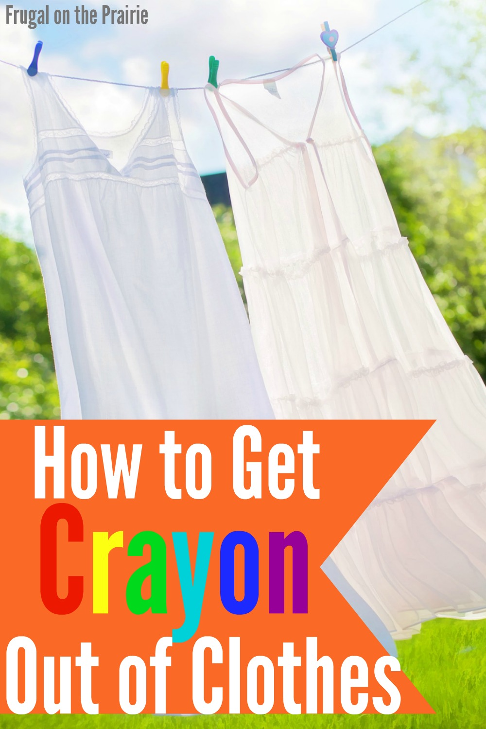 Wondering how to get melted crayon out of clothes? I found a red crayon in our dryer and used this homemade cleaning solution to get the stains out.