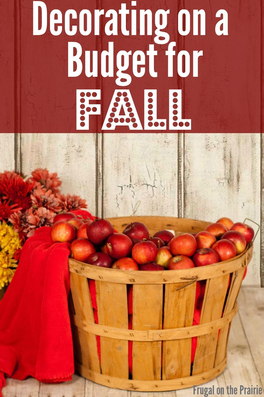 tips for fall decorating on a budget allison lindstrom blogging business. Black Bedroom Furniture Sets. Home Design Ideas