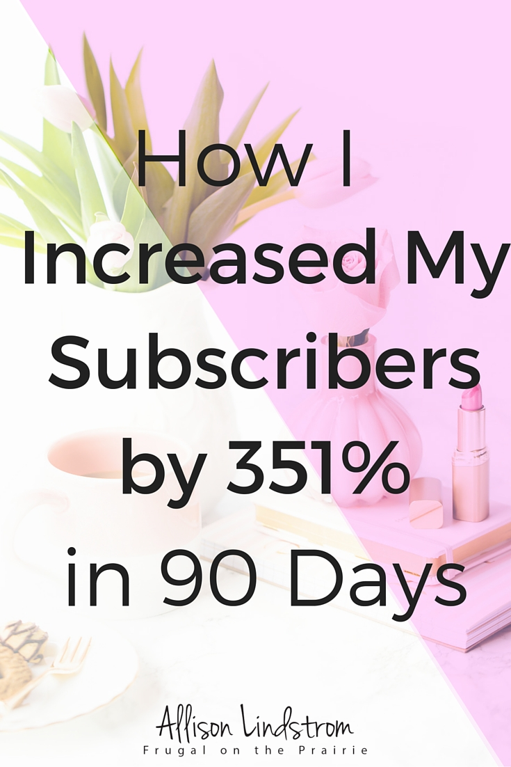 Want to get subscribers but don't know where to start? I increased my subscribers by 351% in only 90 days by promoting my incentives on social media!