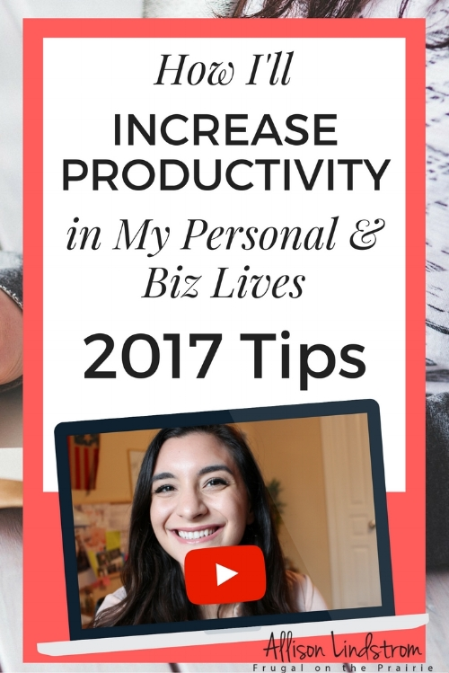 Ready to increase productivity in 2017? I'm making a few key changes in my personal and business life so that next year is a good balance of taking care of myself and still being very productive!